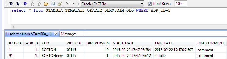 How to use Slowly Changing Dimension with Oracle