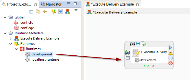 runtimeMetadata onExecuteDelivery