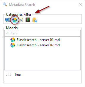 metadata search tool by category