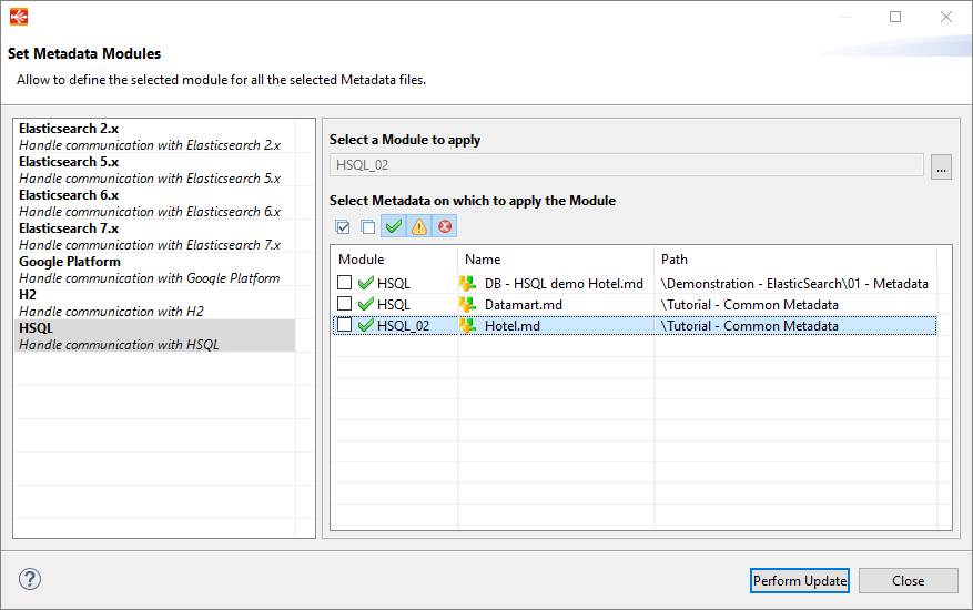 metadata module manager overview