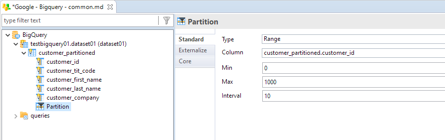 metadata table partition