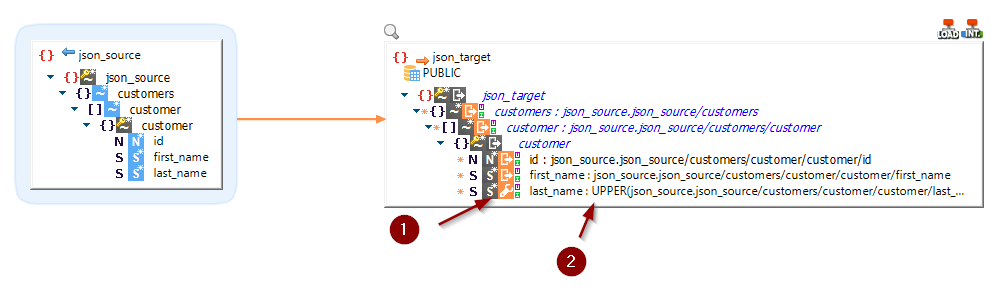 transparent staging json to json with sql function
