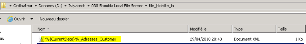 Dynamic title outfile xml - Stambia Forum