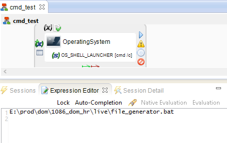 can not able to run bat file from another server runtime